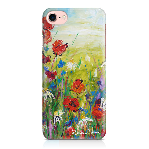 Phone Case of 'Poppies and Daisies' (Hard Case)
