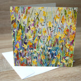 'Spring Day' blank greetings card