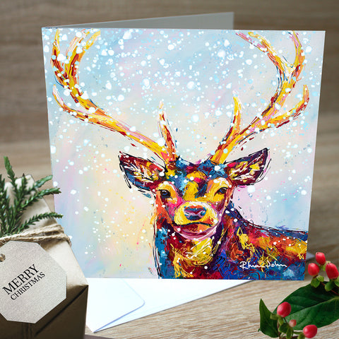Christmas Cards, Pack of 5 - Christmas Stag