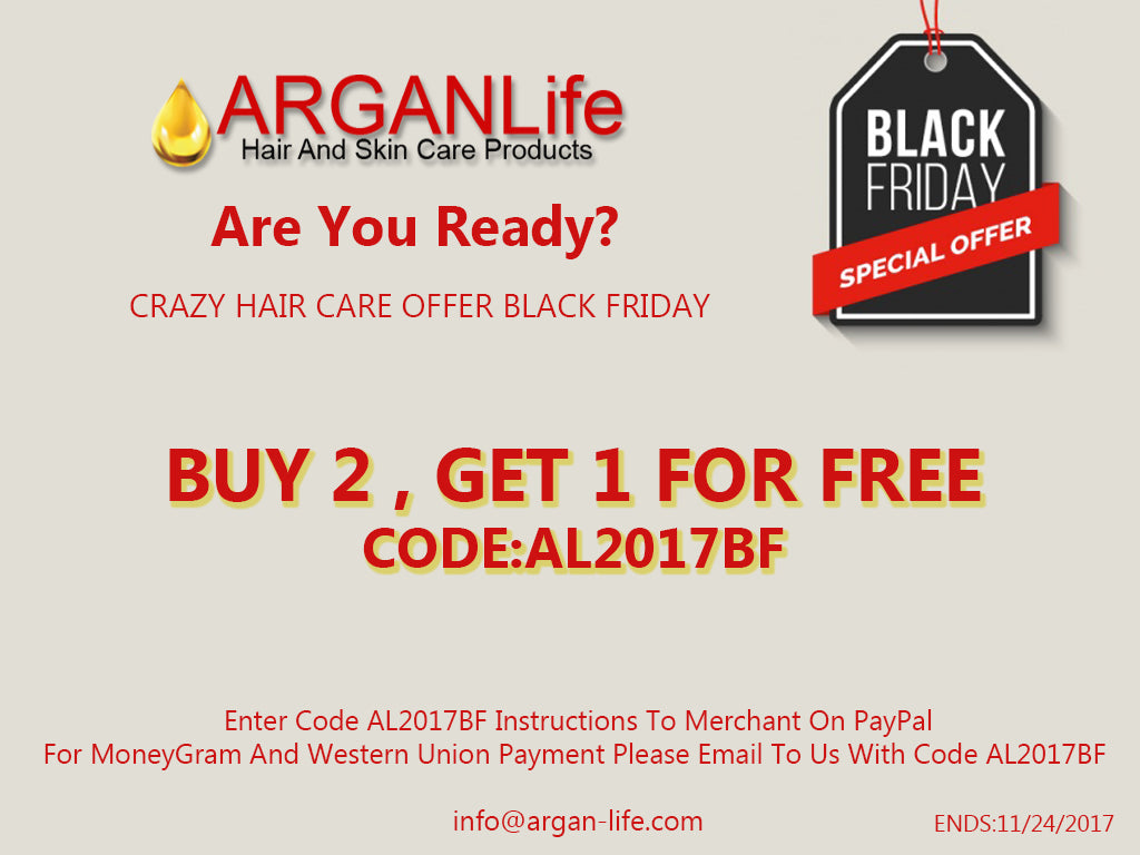 ARGANLIFE BLACK FRIDAY 2017 OFFER