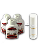 3 BOTTLES OF 250ML ARGANLIFE + 100ML ARGANLIFE OIL