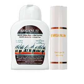 1 Bottle ARGANLife Shampoo and 100ml Argan Oil For Hair Growth - Free Shipping