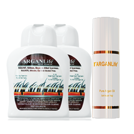 2 Bottles Of 250ml ArganLife + 100ml ArganLife Oil