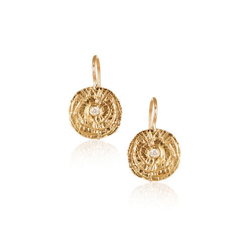 Swirl Disc Mini Flat Earrings