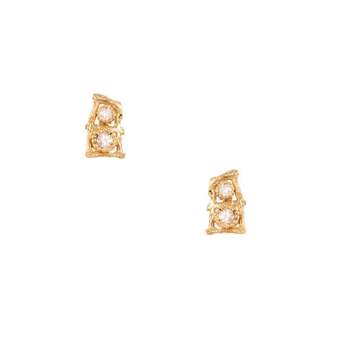 Mini Trellis Post Earrings