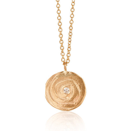 Swirl Flat Mini Necklace
