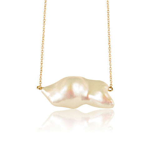 Baroque White Pearl Necklace