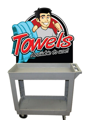 Free Towel Cart Sign