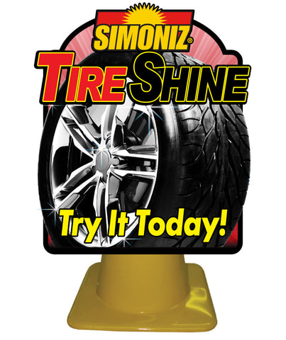 Tire Shine Pylon Display