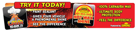 Simoniz (Lava Shield and Hot Wax) Gate Sign