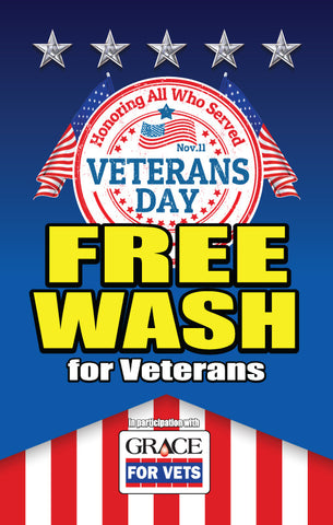 Veteran's Day Free Wash Holiday Windmaster