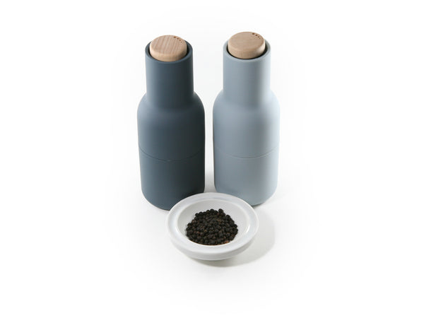 BEST VALUE: Bottle Grinder 2-Piece Set (Blues) with 3 x Complimentary Kampot Pepper
