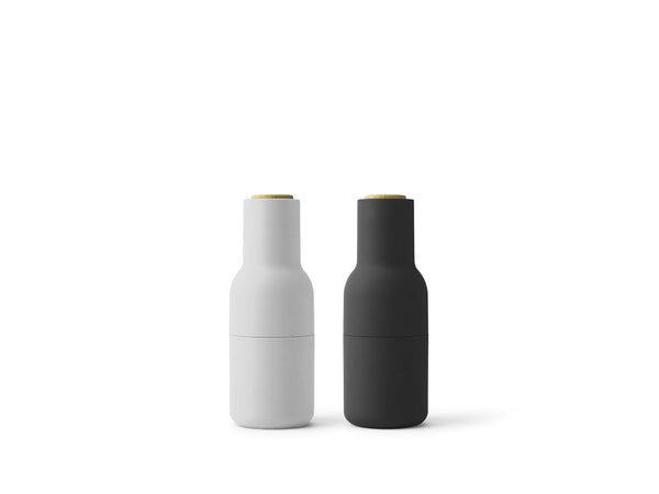 BEST VALUE: Bottle Grinder 2-Piece Set (Ash-Carbon) with 3 x Complimentary Kampot Pepper