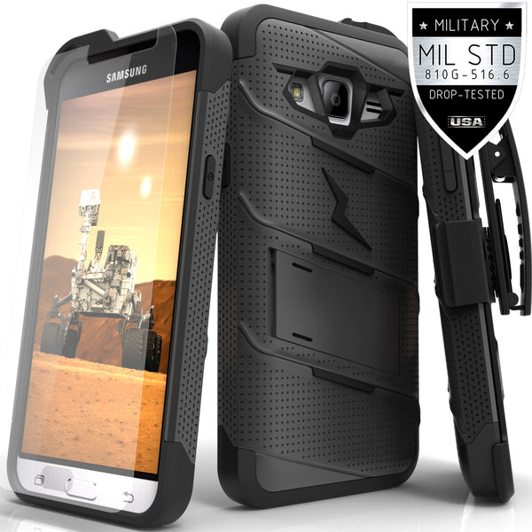 Ultra Strong Armor Military Grade Case Cover for Samsung Galaxy J3