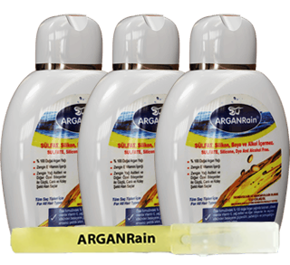 3 Bottles 300ml ARGANRain Shampoo+8ml ARGANRain Pure Argan Oil