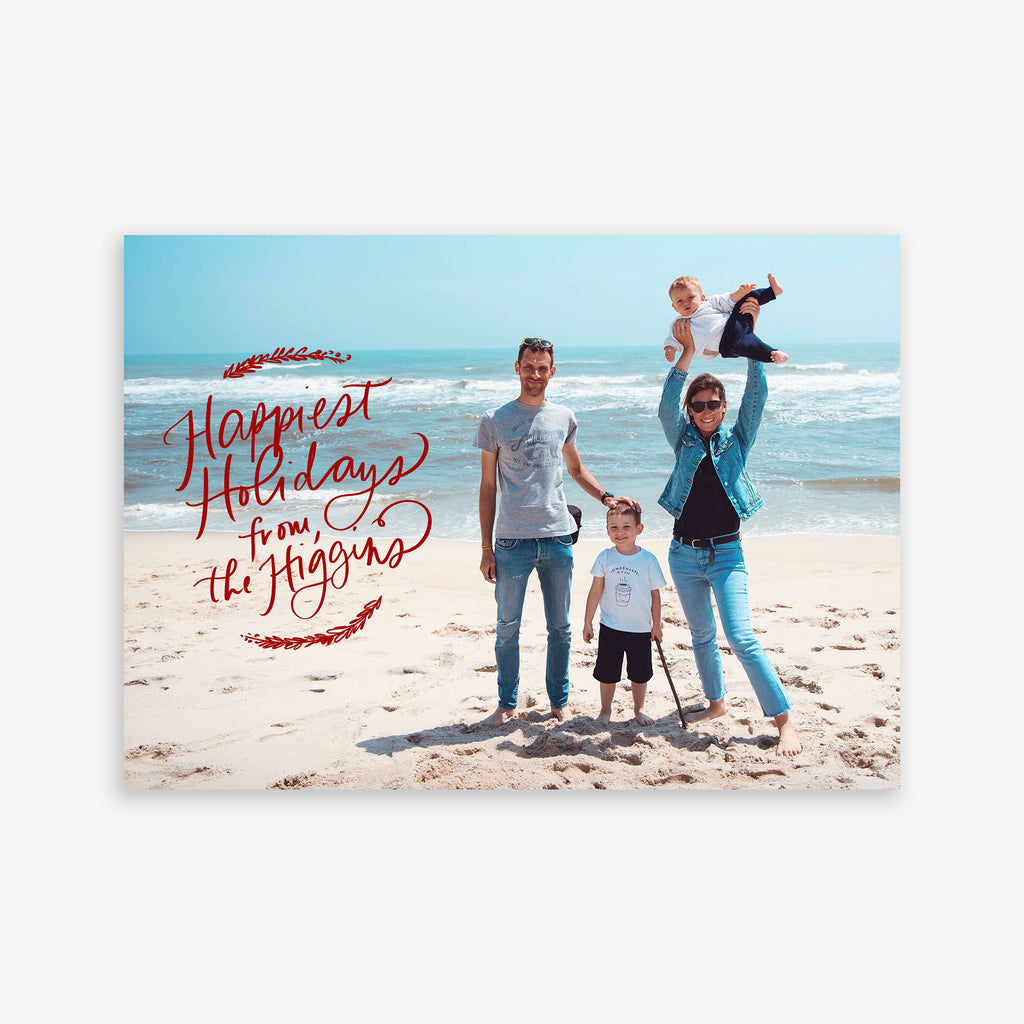 Happiest Holidays Printable Holiday Card