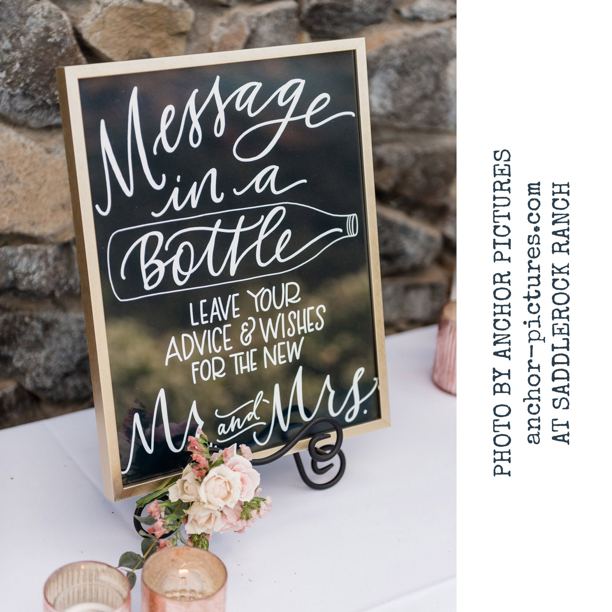 Message in a Bottle Wedding Sign