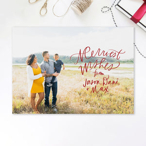 Merriest Wishes Printable Holiday Card