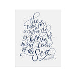 The Cure for Anything is Salt Water | Navy Blue