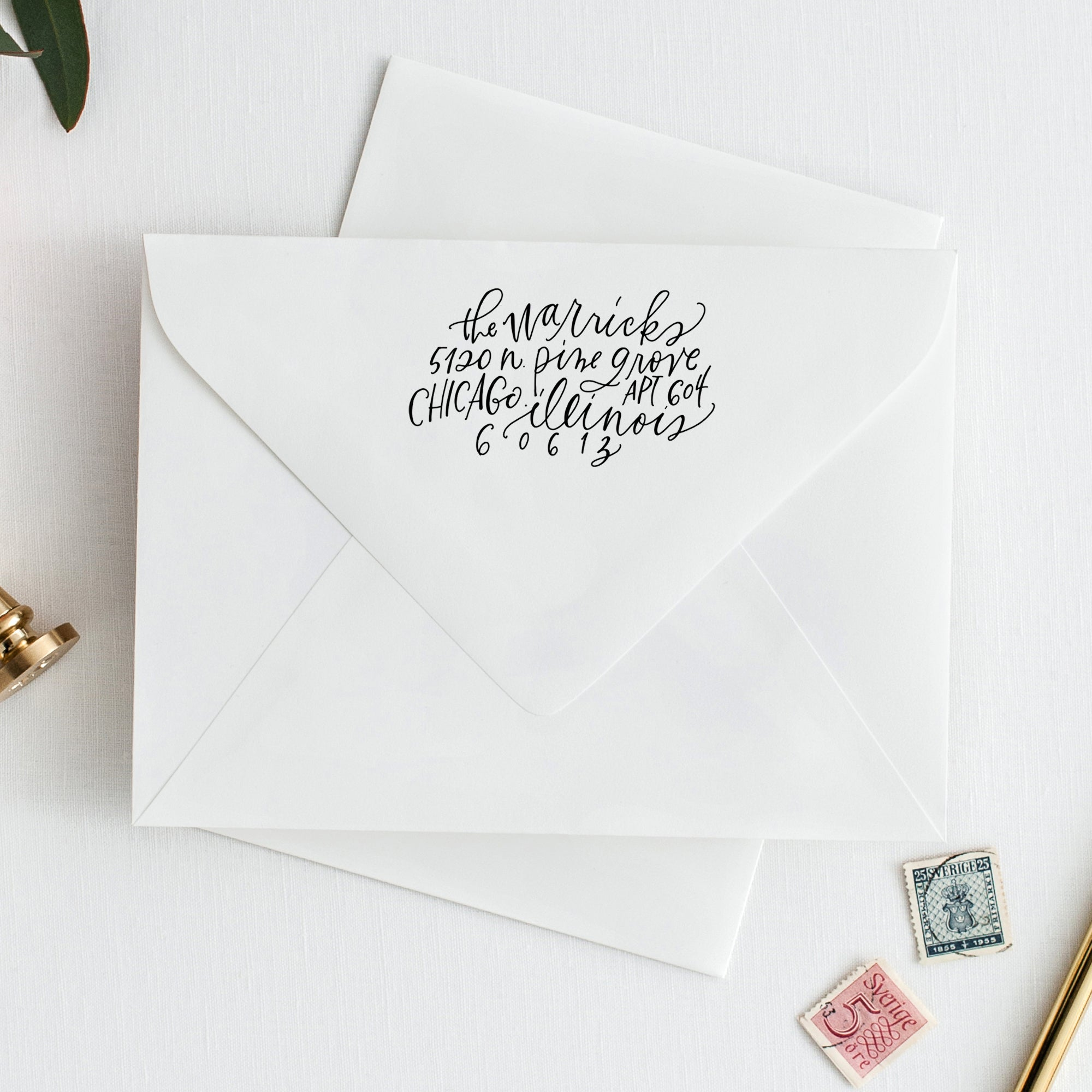 Return Address Stamp / Modern