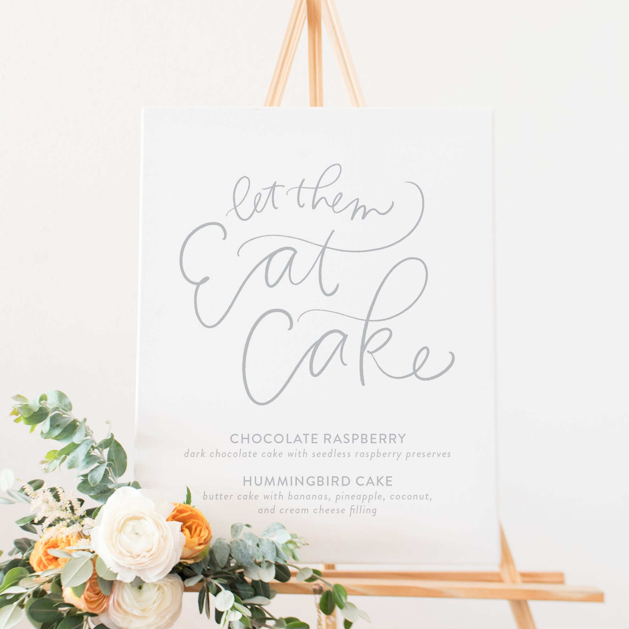 Let Them Eat Cake Wedding Sign