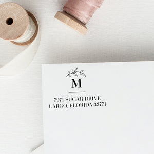 Return Address Stamp / Laurel