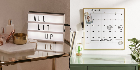 UO Cinema Light box and UO calendar message board | The Smile Blog | TheWhiteningStore.com