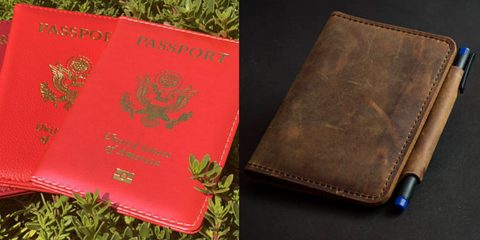 Red passport cover and leather passport | The Smile Blog | TheWhiteningStore.com
