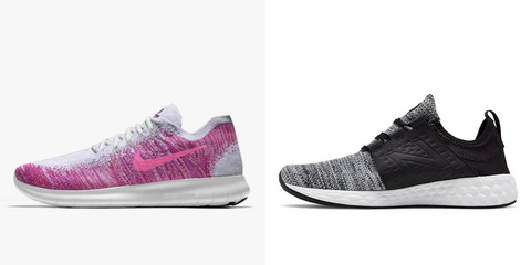 Nike Free Run and New Balance foam cruse | The Smile Blog | TheWhiteningStore.com