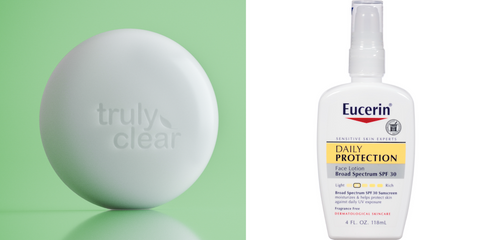 Truly Clear Acne Bar and Eucerin Face Lotion | The Smile Blog | TheWhiteningStore.com