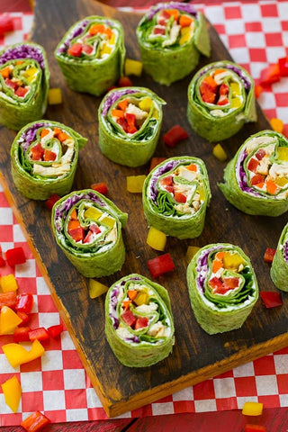 Chicken and vegetable Pinwheels | The Smile Blog | TheWhiteningStore.com