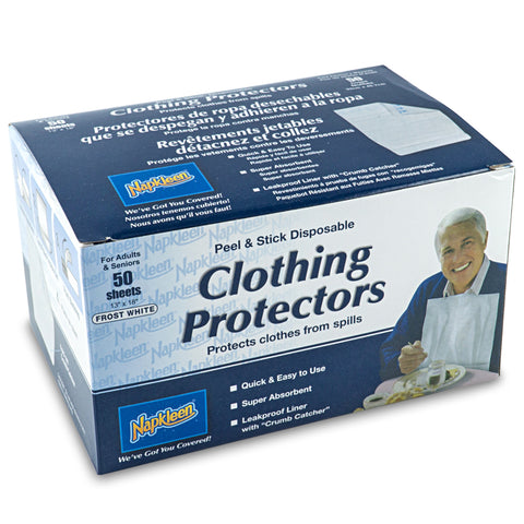 Napkleen Clothing Protector / Disposable Bib (Self Adhesive) Box - TheWhiteningStore.com