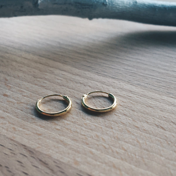 10mm Gold Hoops
