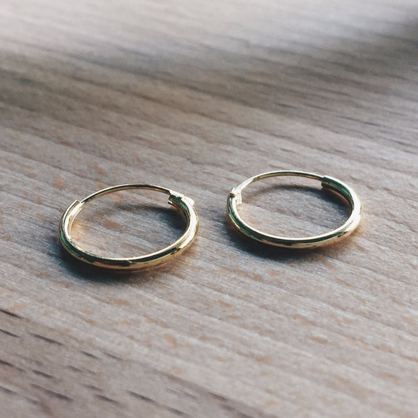 12mm Gold Hoops
