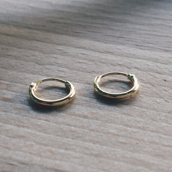 8mm Gold Hoops
