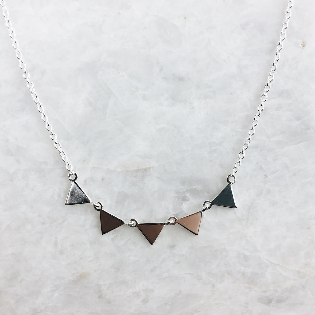 Tiny Triangles Necklace