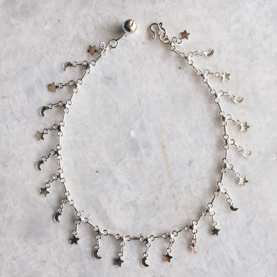 Star and Moon Anklet