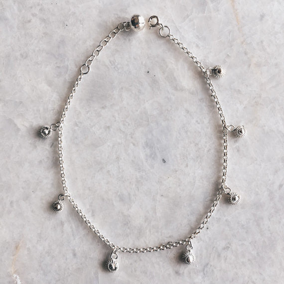 Mini Flower Anklet