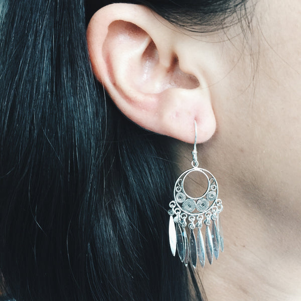 Boho Circle Chandelier Earrings