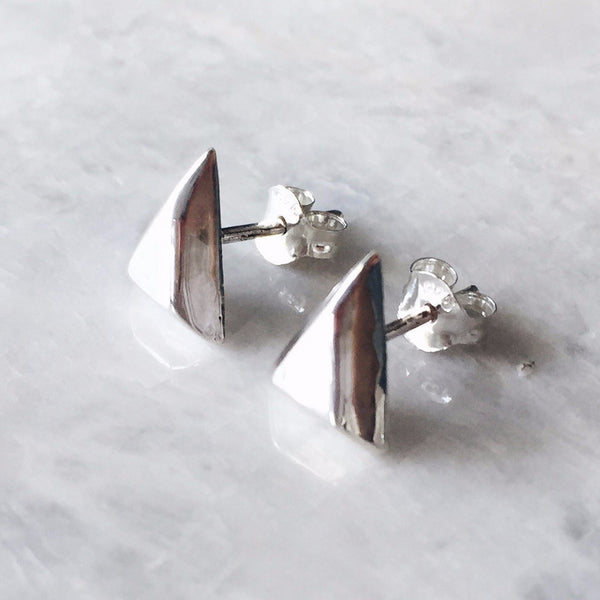 Beveled Triangle Studs