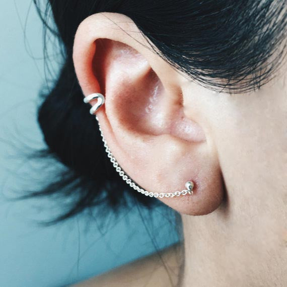 Double Ear Cuff Chain