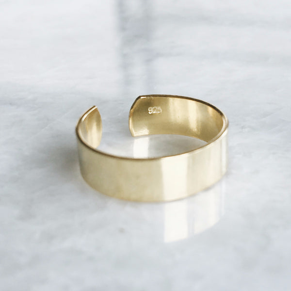 5mm Gold Toe Ring