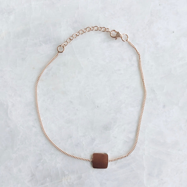 Rose Gold Square Bracelet