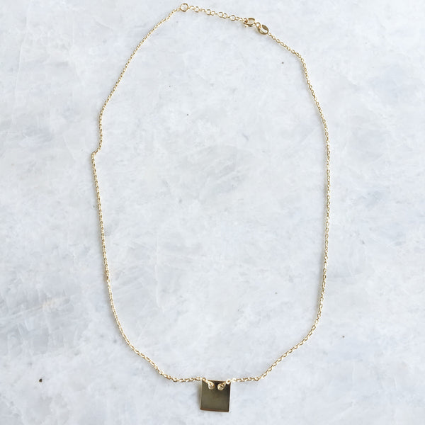 Square Charm Stackable Necklace