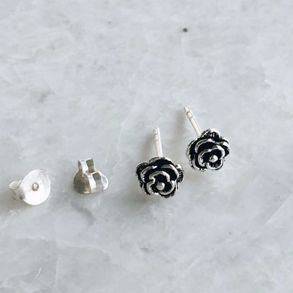 Bloomed Rose Studs