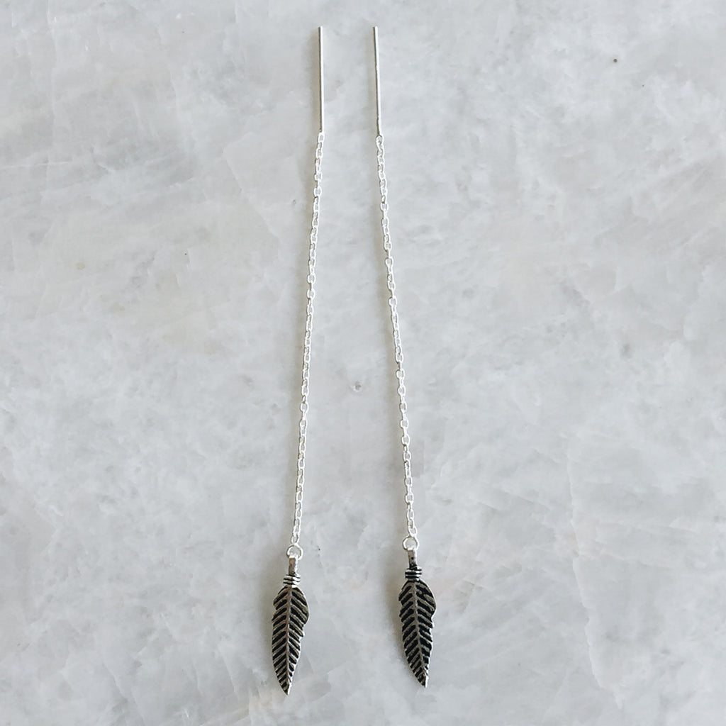 Feather Threader Earrings