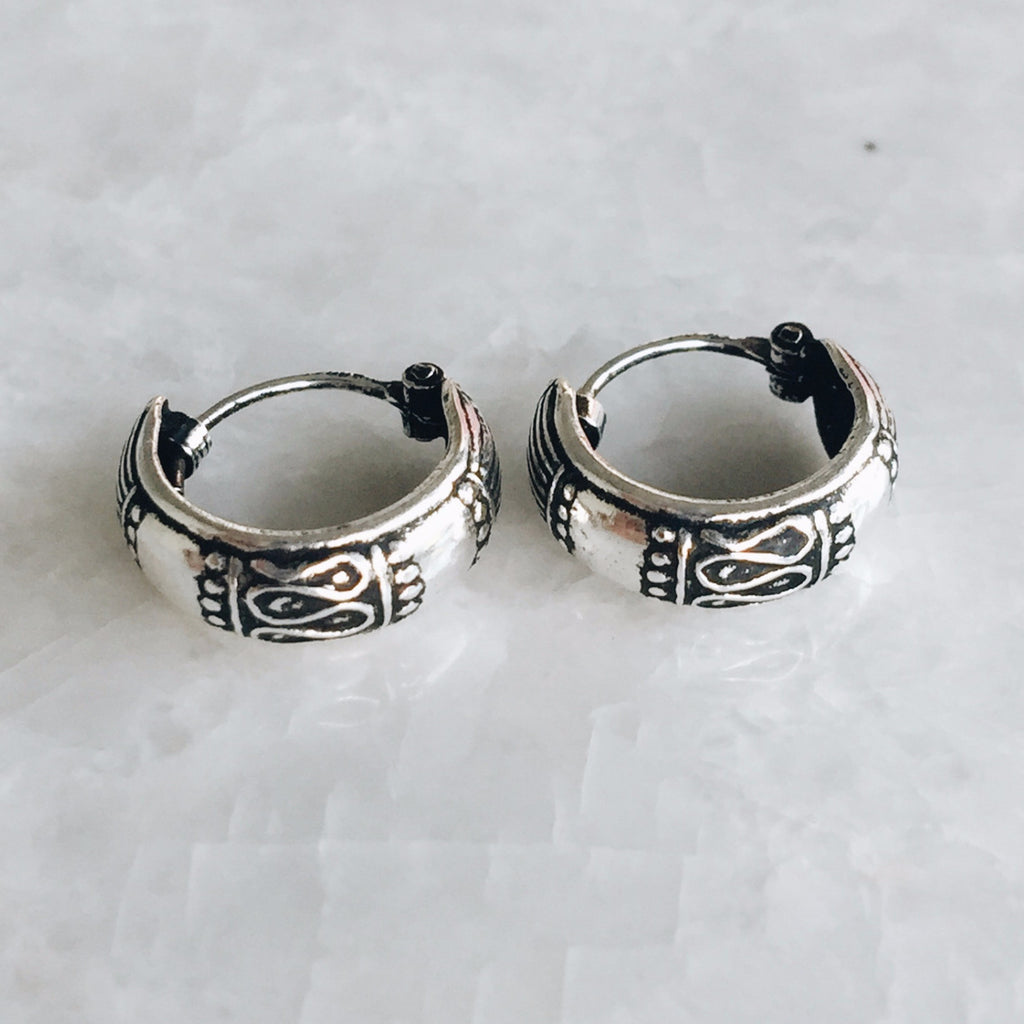 12mm Tribal Script Hoops