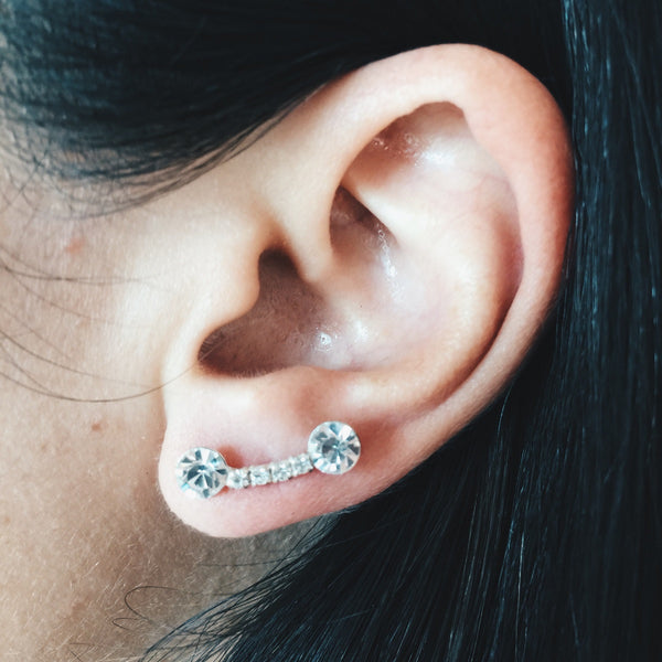 Double Ball Cubic Zirconia Studs