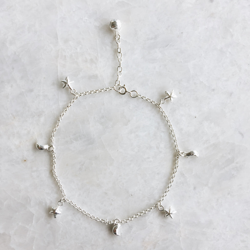 Moon And Star Anklet