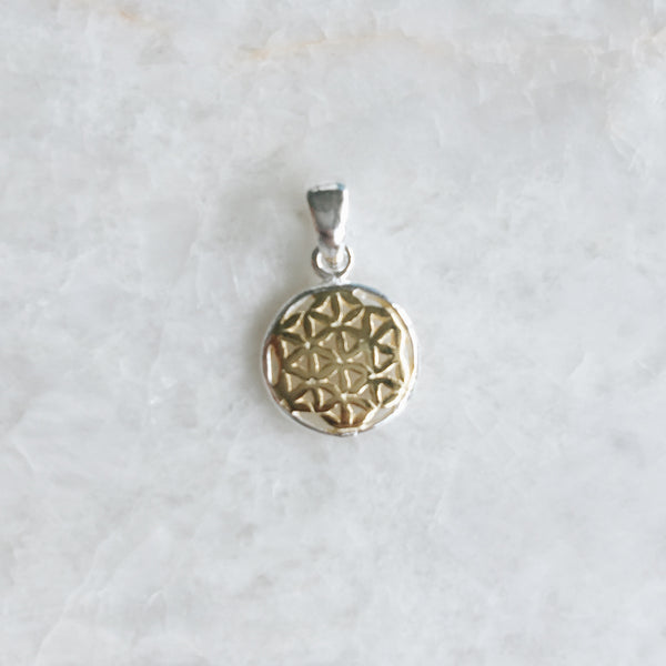 Gold Filigree Celtic Pendant